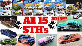 Hot Wheels 2019 Super Treasure Hunt List!!! All 15 Super Treasure Hunts!!!