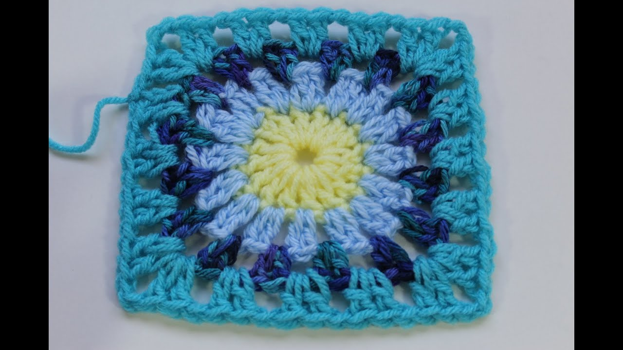 How to crochet granny square with round center subtitulos en espanol youtube - Piastrelle uncinetto old america ...
