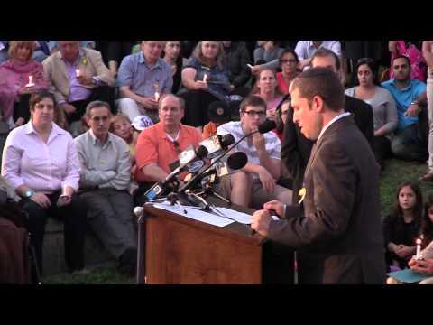 (56) Rabbi Kalman Topp at L.A. Kidnap Vigil