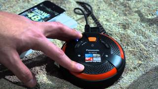 Panasonic SC NT10 XBS Rugged Portable Bluetooth Speaker At CES 2014