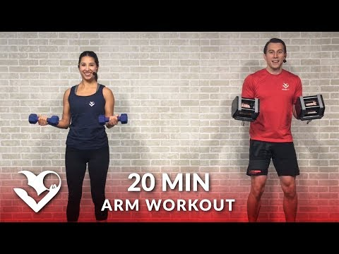 20 Minute Arms Workout at Home with Dumbbells Biceps and Triceps Arm Workout for Women & Men