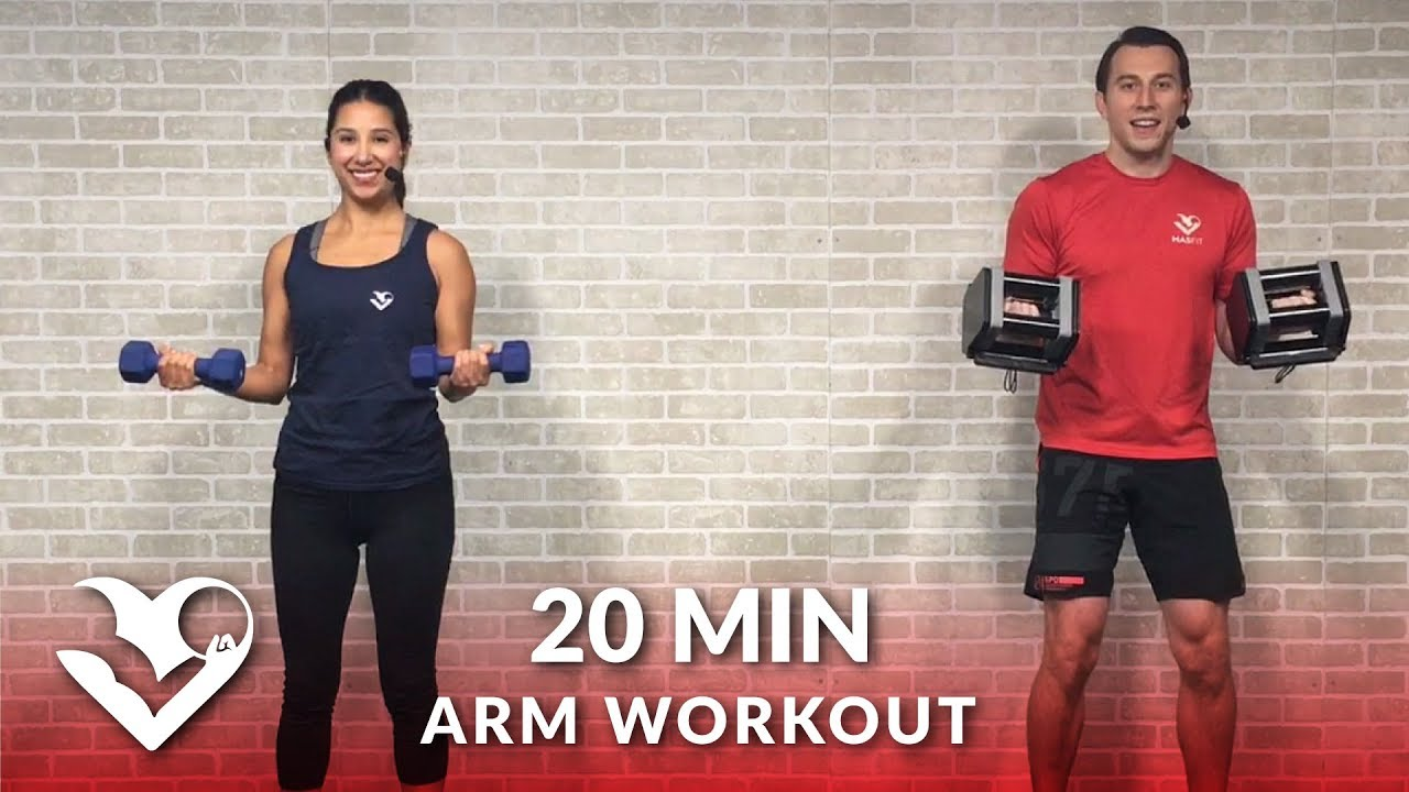 20 Minute Arms Workout at Home with Dumbbells - Biceps and Triceps Arm  Workout for Women & Men