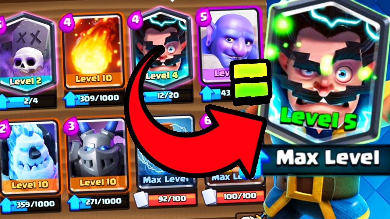 Max Electro Wizard Clash Royale World S First Youtube