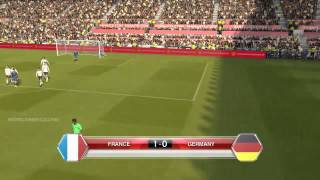 FRANCE vs GERMANY - PES2014 PC GAMEPLAY