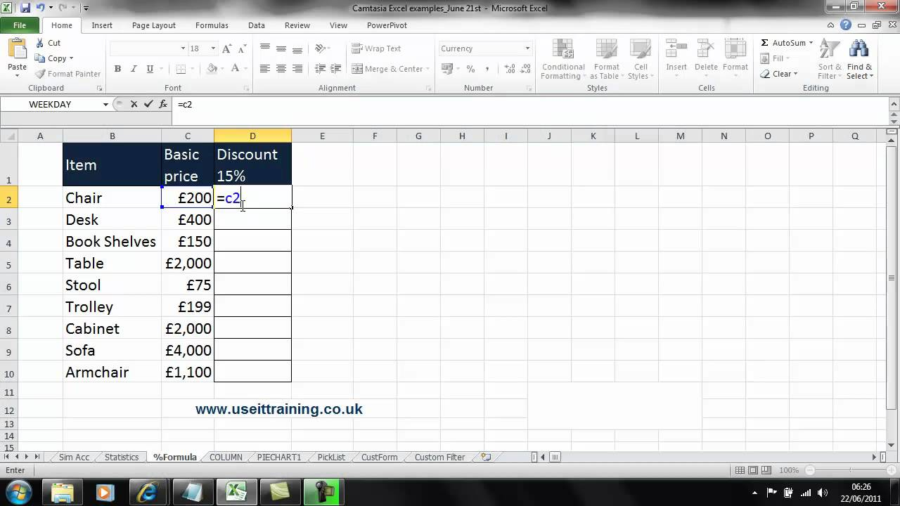 how to make a percentage in excel