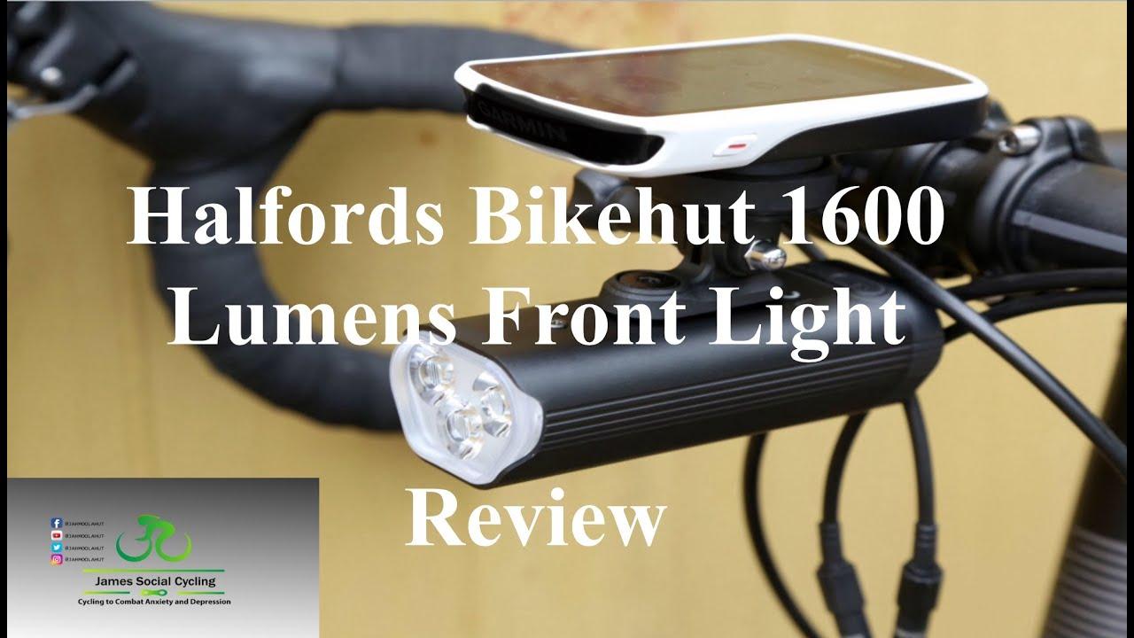 Halfords Bikehut 1600 Bike Front Light 2 Hours Plus Usage Long