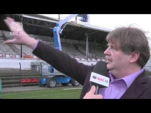 26-02-2014 herstelling RAFC Bosuilstadion dak tribune 1