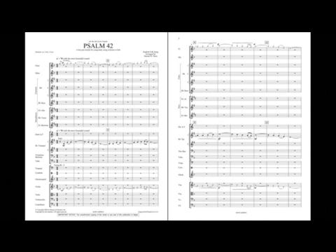 Psalm 42 arranged by Samuel R. Hazo