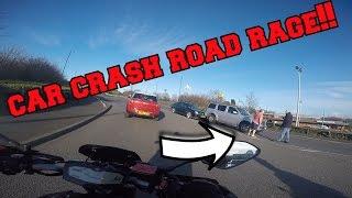 Car Crash Road Rage // Police Stop // Idiot Nearly Hits Me