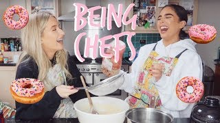 IN THE KITCHEN! | MAKING DOUGHNUTS! | Sophia and Cinzia