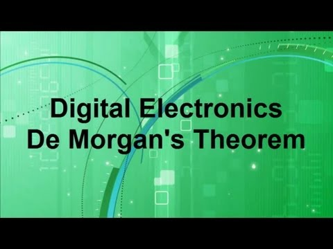Digital Electronics -- DeMorgan's Theorem