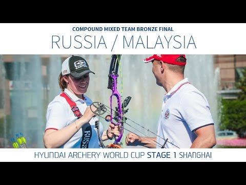 Russia v Malaysia – Compound Mixed Team Bronze Final | Shanghai 2016