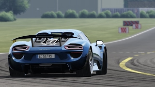 assetto corsa porsche 918 spyder on the top gear test track. Black Bedroom Furniture Sets. Home Design Ideas