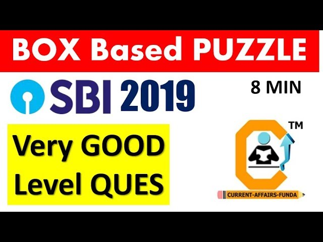 Box Puzzle For SBI PO - Moderate Level Ques (GOOD LEVEL)- REASONING SECTION (Try This Question)