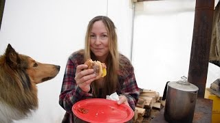 Woodstove Cooking- The Best Breakfast Sandwich EVER