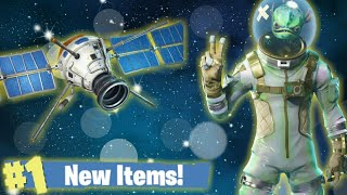 Fortnite Battle Royale, New Fish Alien Skin & Satellite Glider! Short Live Stream!