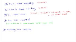 chem 60 experiment 10 part 2 molarity of unknown hcl solution
