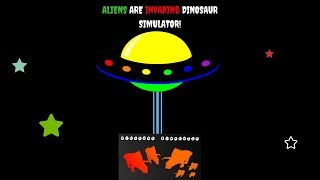 Dinosaur Simulator| alien skins tutorial| ALIENS ARE INVADING DINO SIM