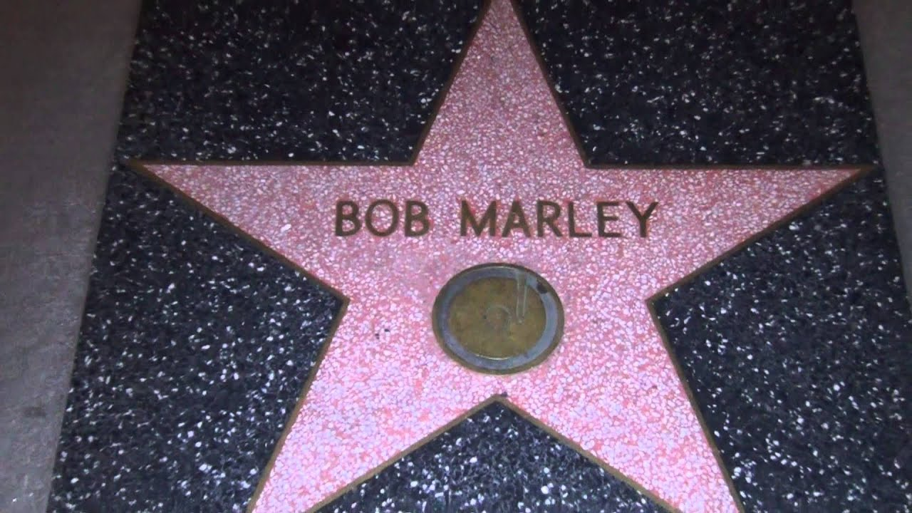 Image result for photos of the bob marley walk of fame on hollywood boulevard
