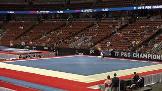 Daniel Yoon - Floor Exercise - 2017 P&G Championships Junior Men Day 1