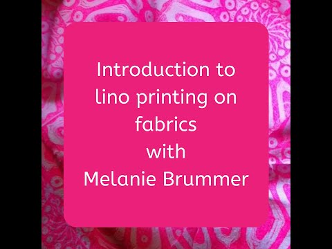 Basic Introduction To Printing With Lino Stamps On Fabric Using Fabric Paint Or Screen Printing Ink