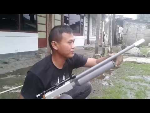 Creative rifle from PVC predator model. using BB bullets. 6mm steel ball.
