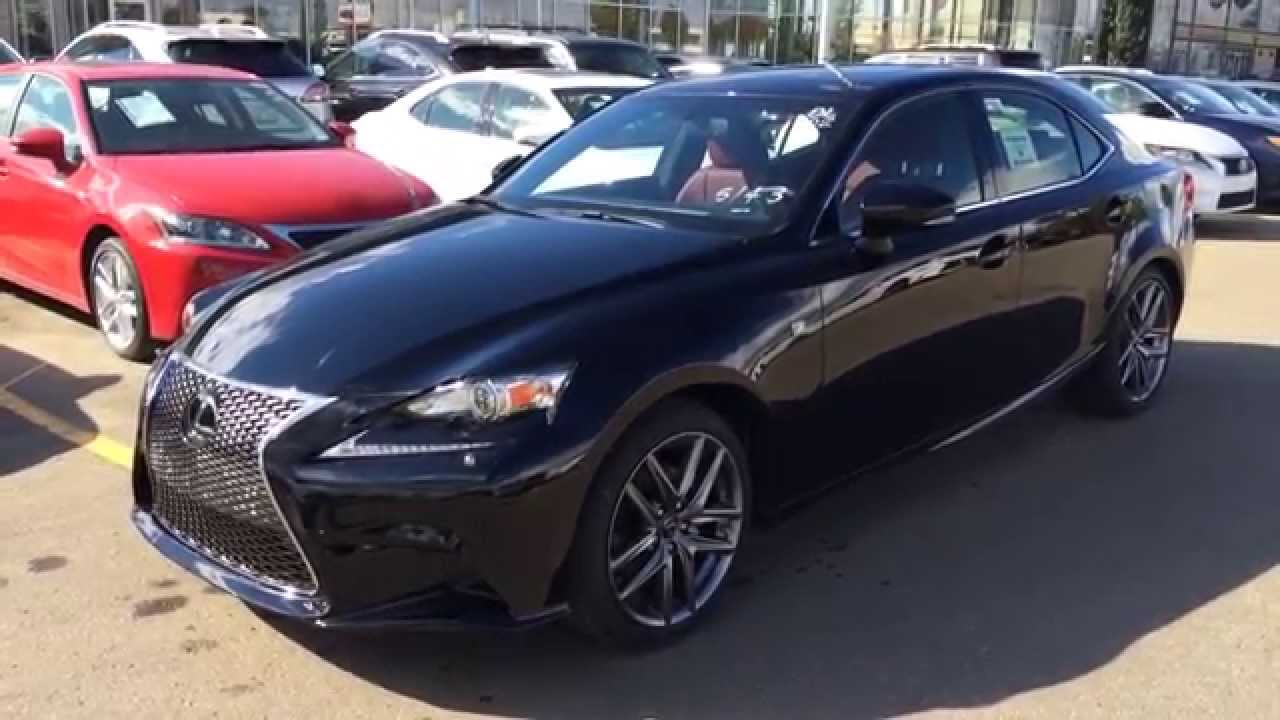 new black on red 2015 lexus is 250 awd f sport series 3. Black Bedroom Furniture Sets. Home Design Ideas