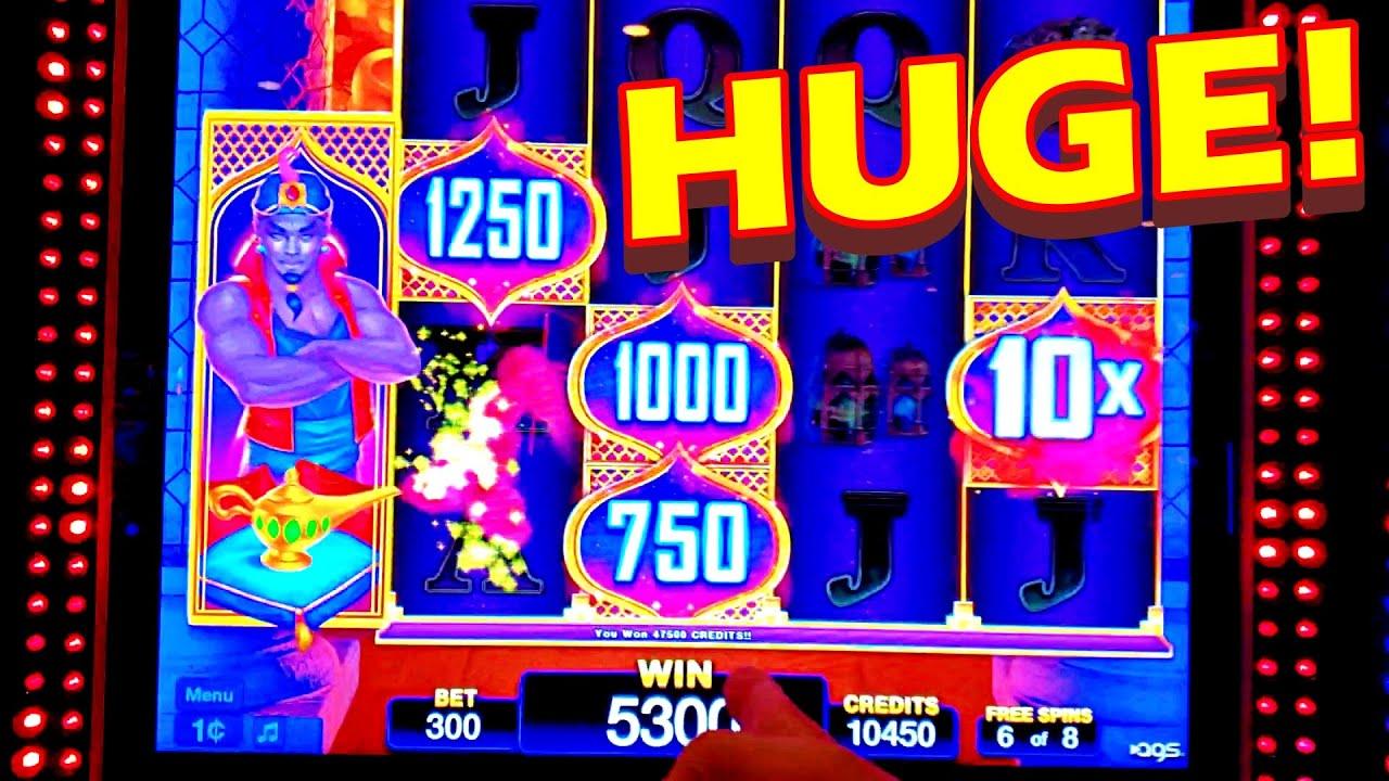 BIG WIN WITH A HUGE MULTIPLIER!!!! * I LOVE THIS GENIE!!! - Las Vegas Casino Slot Machine Bonus Win