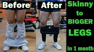 How to get BIGGER LEGS in 1 month | Top 5 Exercise for Legs | Full Leg Workout