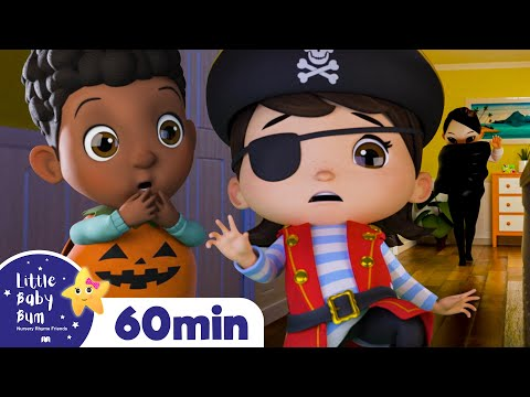 Spooky Monsters Song Don't Be Scared! +More Kids Halloween Nursery Rhymes | Little Baby Bum