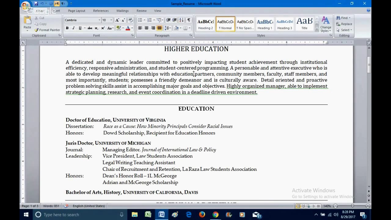How To Write An Effective American Resume