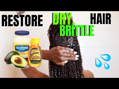 Diy Hair Mask To Restore Dry Brittle Hair Mayo Avocado Honey Eggs Youtube