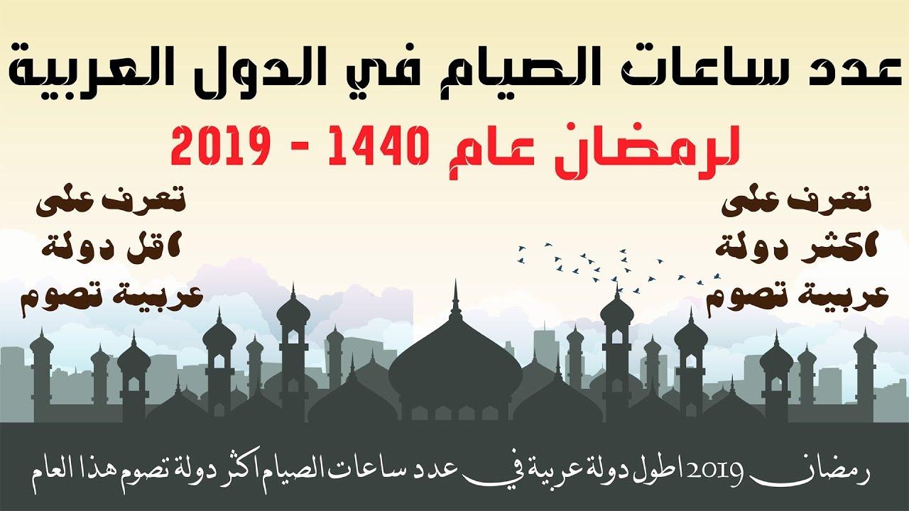 رمضان 2019 اطول دولة عربية في عدد ساعات الصيام اكثر دولة تصوم هذا العام Youtube
