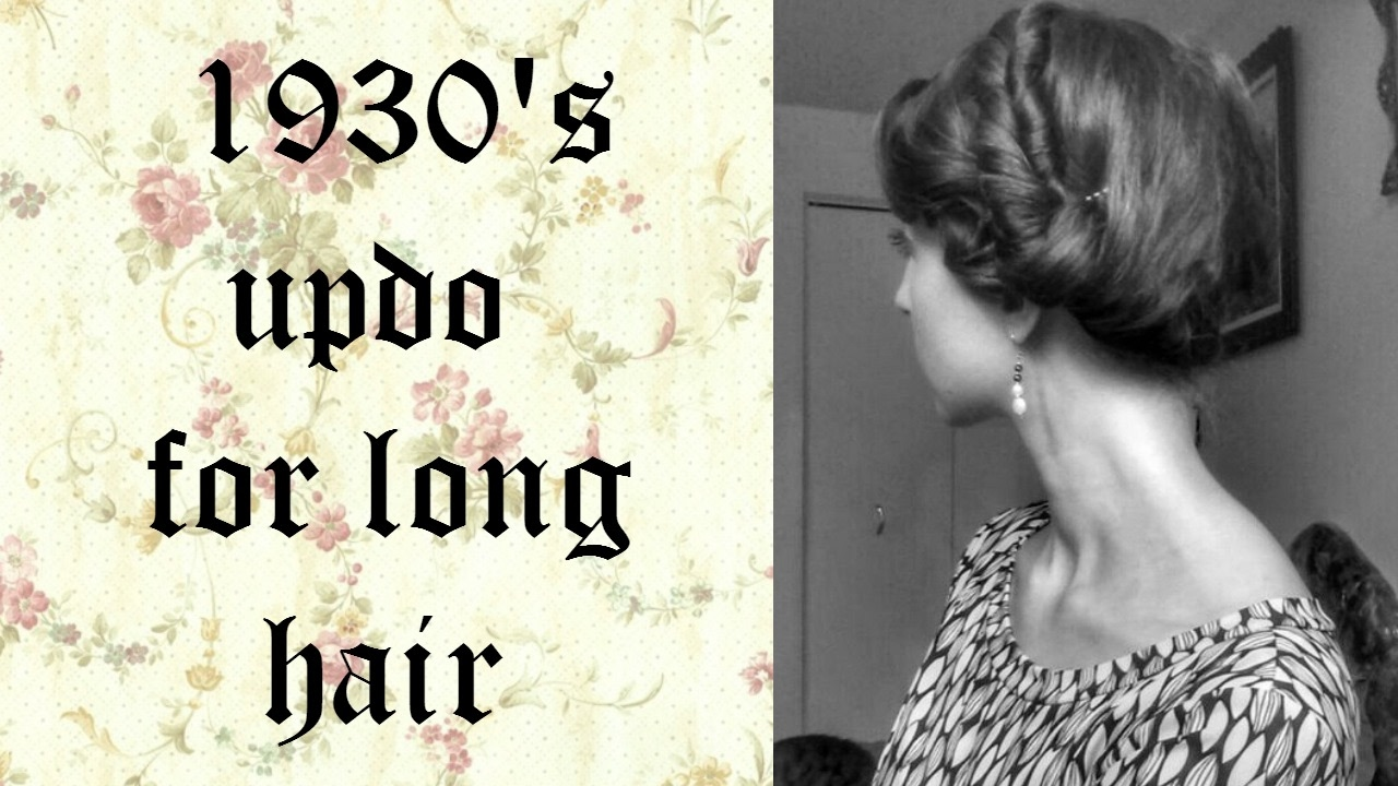 1930s Updo Hairstyle Youtube