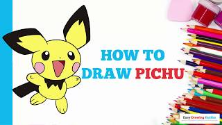 How to Draw Pichu Pokémon in a Few Easy Steps: Drawing Tutorial for Kids and Beginners