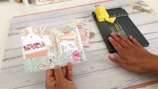 Mini Pocket File Folder using WRMK Gift Bag Punchboard PLUS **Tutorial**