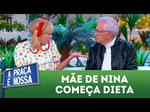 Mãe de Nina começa a fazer dieta | A Praça é Nossa (07/06/18)