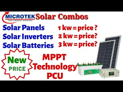 New 2020 Microtek Solar Panel Combos Price & MPPT Technology PCU | Shashank Is Here