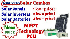 New 2019 Microtek Solar Panel Combos Price & MPPT Technology PCU