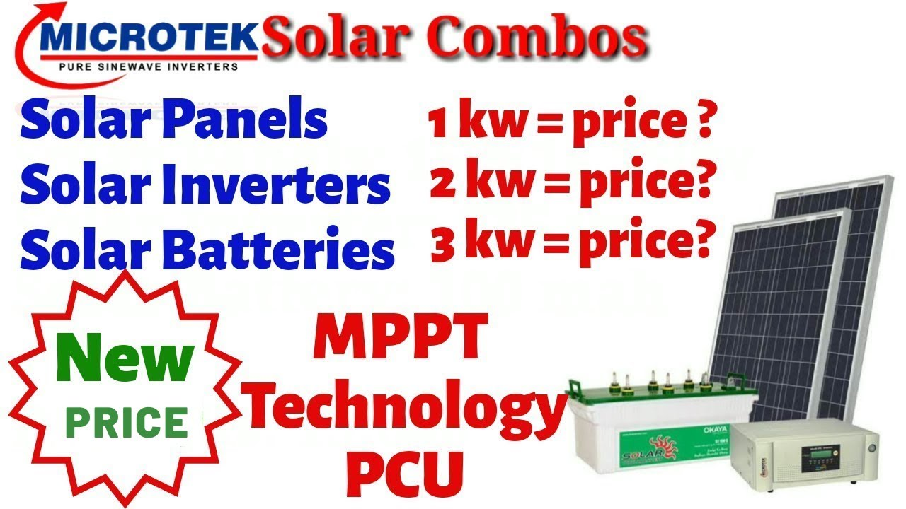 New 2020 Microtek Solar Panel Combos Price Mppt Technology Pcu Shashank Is Here Youtube