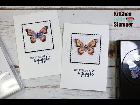 Stmapin' Up! Butterfly Duet Punch Note Card Tutorial with Kitchen Table Stamper