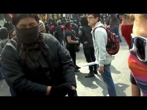 Enfrentamientos en San Lázaro   1º de diciembre de 2012