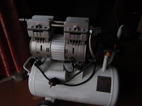 Малошумный безмаслянный компрессор для мастерской и дома.