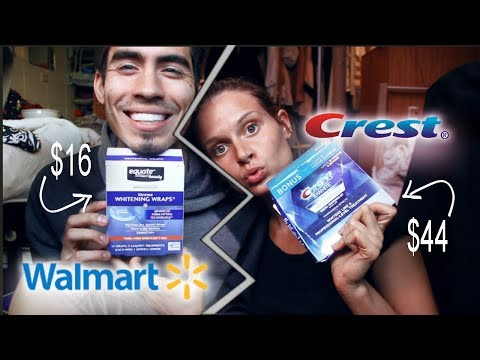 Teeth Whitening Crest Vs Walmart Youtube
