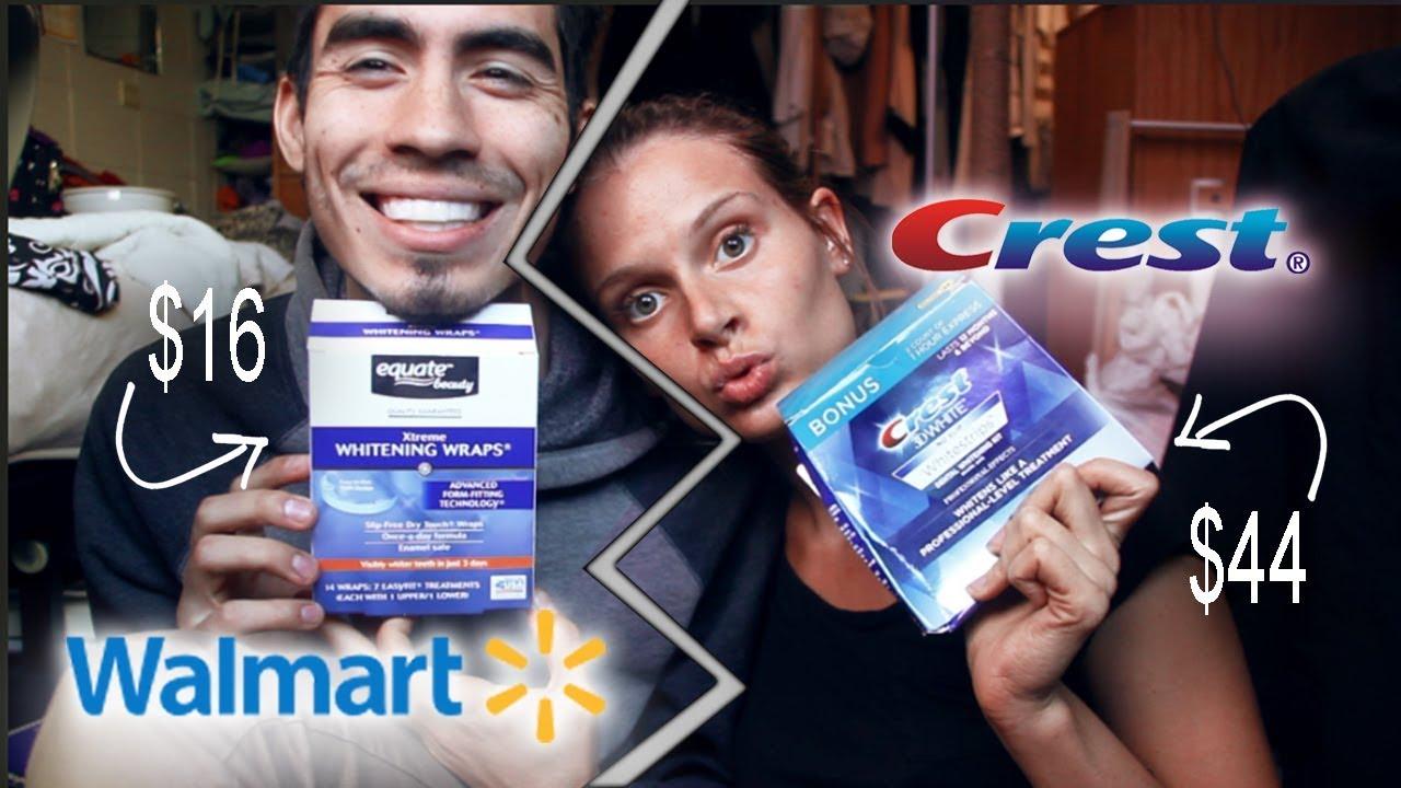 Teeth Whitening Crest Vs Walmart Youtube
