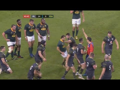 Cian Healy casually  floors Dyllan Leyds without the ball. [Ireland vs South Africa '17]
