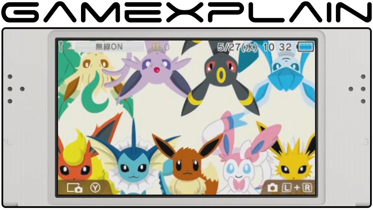 Google themes pikachu - Nintendo 3ds Pok Mon Themes Mega Charizard X Eevee Evolutions Pok Mon Shuffle