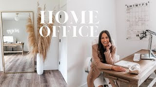 HOME OFFICE DECOR & TOUR!!
