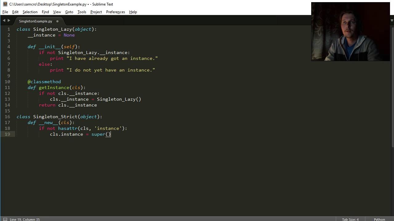 Python Oop Singleton Youtube