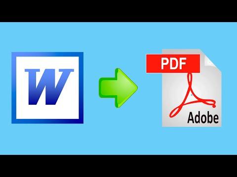 Как перевести файл из ворда в пдф